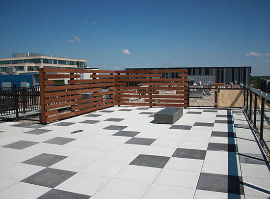 Patterned Roof Top Amenity Deck